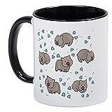 CafePress Wombat Tassen,–Einzigartige Kaffee Tasse, Kaffeetasse, Small White/Black Inside