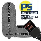 Reifenwärmer RACEFOXX PRO DIGITAL bis max. 99° C SUPERBIKE, 120/17 vorne und 180 bis 200/17 hinten grau