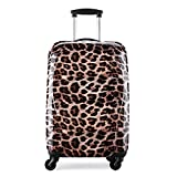 Valise Grande Taille 78 cm trolley ABS + PC ultra léger léopard - 4 roues 104L