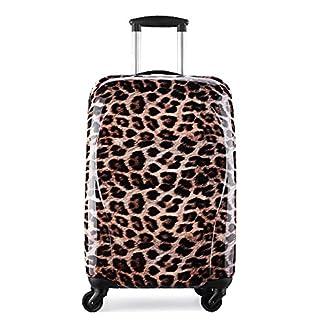 Maleta cabina 55cm rígida policarbonato partyprince Leopard