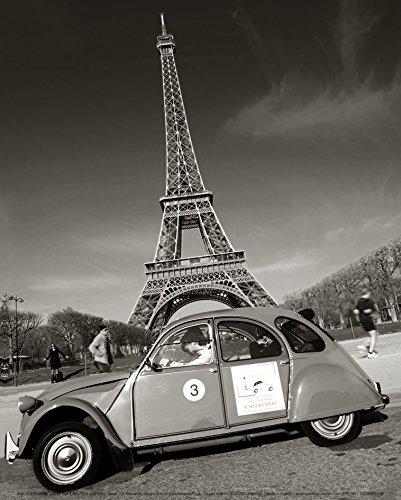 New imagesaffiche 24x30cm 2Cv/2CV and Eiffel Tower with Eiffel Tower/Ente und Eiffelturm