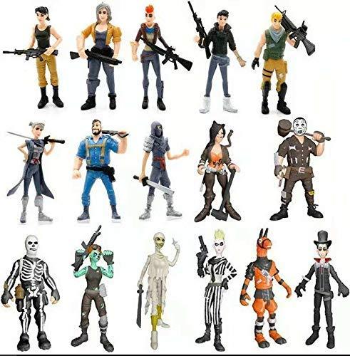 Vercico 16pcs Figuras de acción Juguetes Figuras del Juego Modelo Personajes (16pc)