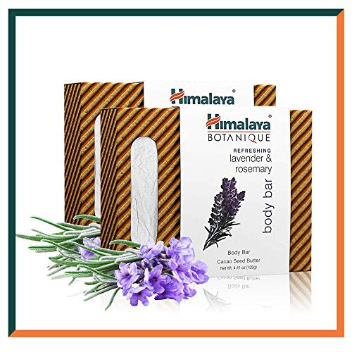 1c7c0d293ed7 Himalaya Botanique Refreshing Lavender & Rosemary Soap Bar - All Natural  Face and Body Handmade Soap - Free from Parabens, SLS, Phthalates 2-Pack  4.41 ...