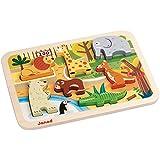 Janod - J07022 - Chunky Puzzle Bois Zoo 7 pcs