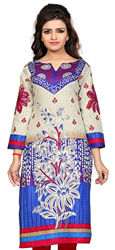 Nakoda Women's Cotton Self Print Unstitched Kurti(Multicolored)  available at amazon for Rs.199