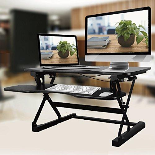 NEG Computertisch ExtenDesk 100B (91,5cm breit) Sitz-/Steh-Arbeitsplatz schwarz - 6