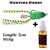 #6: Top Water, Fishing Frog With High Rigged Stainless Steel Hooks,