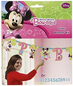 Amscan Minnie Pink Add Age Letter Banner