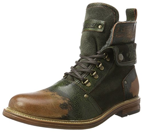 NOBRAND Herren Hammer Klassische Stiefel, Grün (Kaki), 44 EU Grüne Leder Stiefel