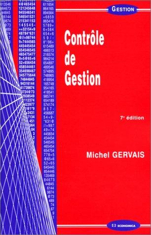 Contrôle de gestion par Michel Gervais