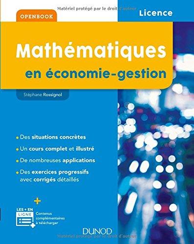 Mathématiques en économie-gestion par Stéphane Rossignol