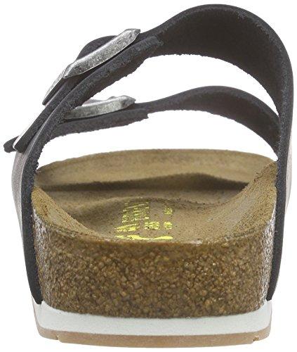 Birkenstock Arizona Leder, Mules mixte adulte Noir (Noir/Ls Softy Comfort)