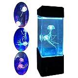 Mini Lampada Acquario Meduse Artificiali - Mesmerising LED Lights Relaxing Mood Lamp Light/Carica USB - Decorazione Domestica Lampada Magica per Regalo
