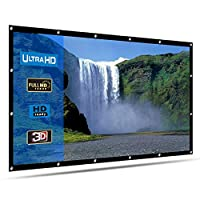 LATIT Projector Screen 120 inch,Portable Projection Screen 16:9 for Indoor Outdoor Home Theater Cinema and Collapsible Projection Screen