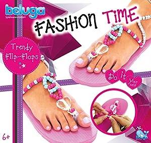 Beluga Juguetes 12428Fashion Time Trendy Chancleta Juego de Manualidades, Color Rosa
