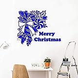 guijiumai De noël Bonbons Stickers Muraux Joyeux Noël Vinyle Stickers Muraux Fenêtre À La Maison Art Chambre Décor À La Maison Arts Muraux Étanche L 1 M 68cm x 56cm