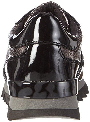 Tamaris 23658, Baskets Basses Femme Noir (PLAT.STR./BLK 972)