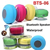 #5: higadgetTM Higadget Water Proof Bluetooth Shower Speaker With Mic Wireless Portable Stereo - Best for Bath, Pool, Car, Beach, Indoor/Outdoor Use (Multi colors )