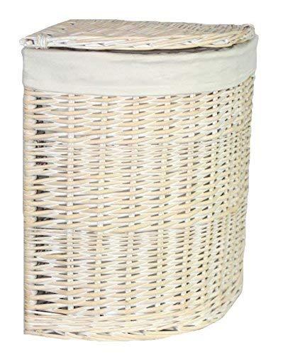 Red Hamper Kleine Corner White Wash Wäschekorb mit einem weißen Futter