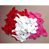 100- rot-pink-weiße-Herz-Luftballon-s-Hochzeit-s-Deko-Geschenk-Idee-Schmmuck-Schmücken- vom Sachsen Versand Helium geeignet