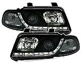 Scheinwerfer Set mit LED Tagfahrlicht Optik in Schwarz