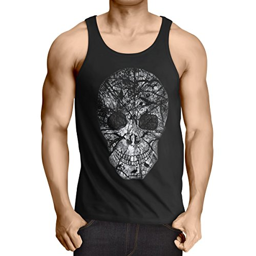 style3 Nature Skull Tank Top Herren Totenkopf, -