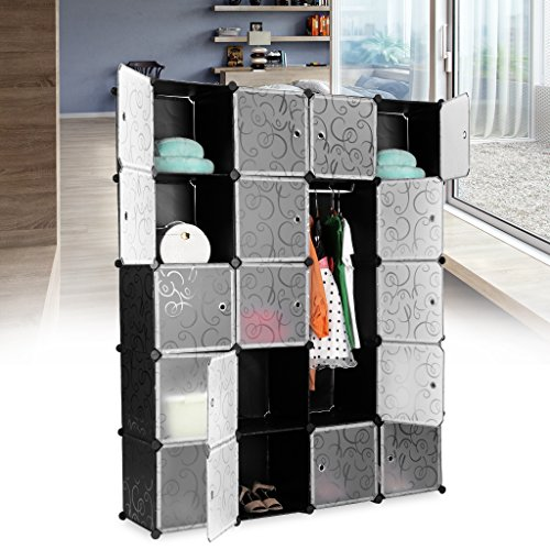 sale langria regalsystem stufenregal 20kubus lagerregal kleiderschrank garderobe fr kleidung. Black Bedroom Furniture Sets. Home Design Ideas
