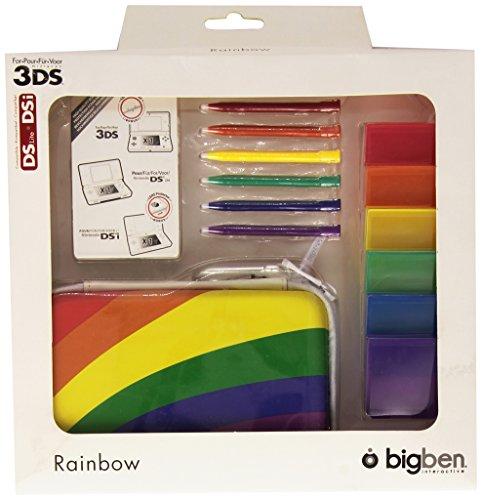 Bigben Zubehör-Set Pack Rainbow Hard-Case Tasche Spiele-Hülle etc. für Nintendo 3DS DSi DS Lite
