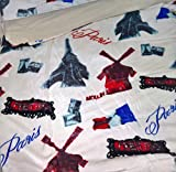 ForenTex - Edredón nórdico, (SP-3024), París, cama de 90 y 105 cm, 180 x 240 cm, parte superior Ultra suave con tacto tipo peluche (triple de microseda), parte inferior térmica para arroparte con borreguillo de máxima calidad, con relleno. No incluye cojines.