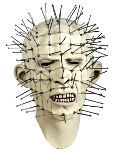 Maske Vollmaske Hellraiser Pinhead Latex Halloween Karneval Fasching