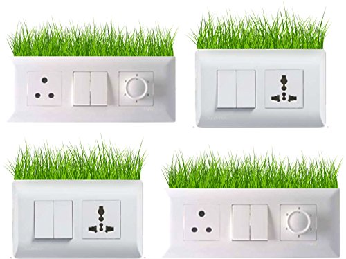 Wall Stickers 'Beautiful Grass' Light Switches - Set of 4  available at amazon for Rs.99