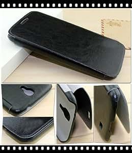 Ultra Slim Tasche für Samsung Galaxy Mega 6.3 ( GT- i9200 / GT- I9205) Hülle Flip Case Cover Leder-Optik schwarz