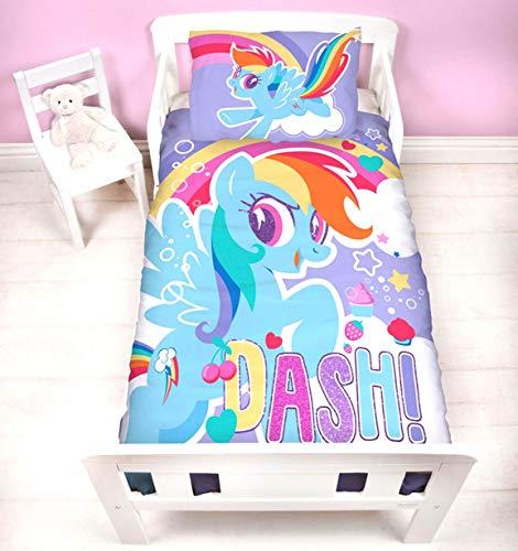 My little Pony Crush Panel Junior Bettdecke für Babybett, Steppdecke, Set