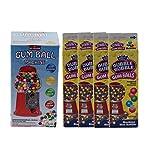 Original Bubble Gum-Kugel Automat 27cm mit 4 Packungen Dubble Bubble Gum-Balls