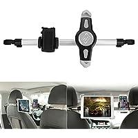 konesky coche soporte para reposacabezas de coche para Tablet, Soporte de coche con rotación de 360grados para 7–10.5pulgadas Tablet y el ancho de 1,6–3,5pulgadas teléfono