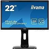 iiyama ProLite XB2283HSU-B1DP 54,7cm (21,5 Zoll) VA LED-Monitor Full-HD (VGA, DVI, DisplayPort, USB2.0, Höhenverstellung, Pivot) schwarz