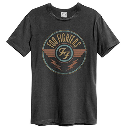 Amplified foo fighters-ff air t-shirt, grey (charcoal cc), m uomo