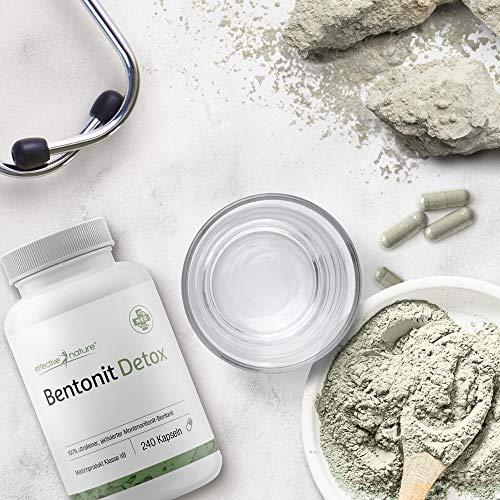 effective nature Bentonit Detox Kapseln – Ideal bei Darmreinigung und Darmkuren (Medizinprodukt IIB) – 240 Stück