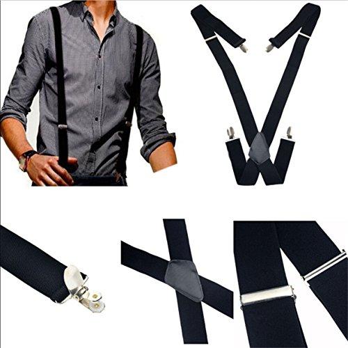 Preisvergleich Produktbild Yinew Hosenträger für Herren X-förmige breit verstellbar und elastisch mit einem sehr starken Clips für Männer Hose