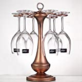 LKLXZD Calice porta bicchiere da vino europeo, capottina capovolta, 270 * 395 * 270mm Bar, casa, cucina, dispensa Cabinet (Color : Bronze)