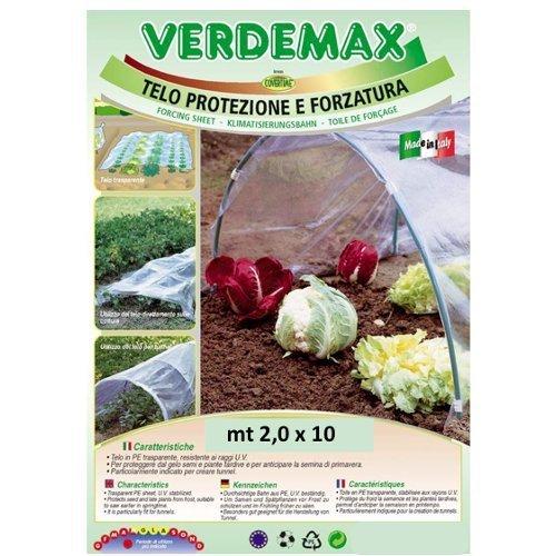 Verdemax 254710m 2x Pellicola trasparente PE Serra