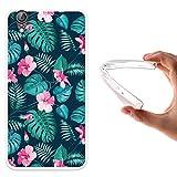 Funda Huawei Y6 II - Huawei Honor 5A, WoowCase [ Huawei Y6 II - Huawei Honor 5A ] Funda Silicona Gel Flexible Flores Tropicales 2, Carcasa Case TPU Silicona