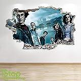 1Stop Graphics Shop Harry Potter Autocollant Mural 3D Look - Chambre Salon Enfants Autocollant Mural Z69 - Large: 70 cm x 111 cm