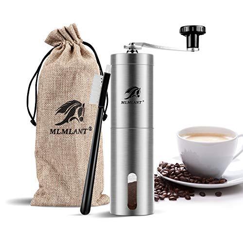 Mlmlant macinacaffè manuale macina caffè manuale portatile in acciaio inossidabile mano macinacaffè macina perfetto per viaggiare a casa