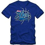 True 76er #3 T-Shirt Herren Basketball Play Offs Trikot USA Fanshirt Tee, Farbe:Blau (Royalblue L190);Größe:XXL