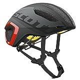 Scott Cadence Plus Triathlon Rennrad Fahrrad Helm grau/rot 2017: Größe: L (59-61cm)