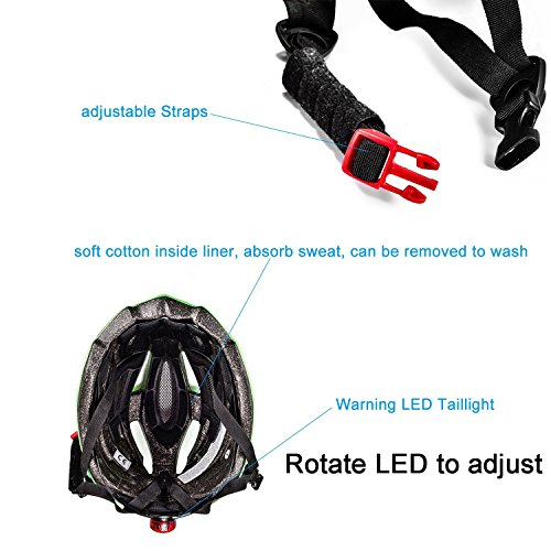 Bicycle Helmet SKL Ultralight Unisex With Safety LED
