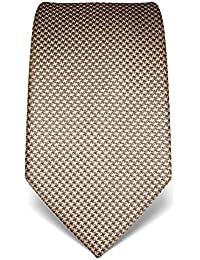 Vincenzo Boretti Herren Krawatte aus reiner Seide, Hahnentritt