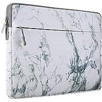 MOSISO Lona Bolsa para 13-13.3 Pulgadas MacBook Pro, MacBook Air, Notebook, Manga de Ordenador Portátil Caja Cubierta, Blanco Patrón de Mármol