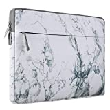 MOSISO Portatile Custodia Borsa per 15-15,6 Pollici MacBook Pro, Computer Notebook, Canvas Tessuto Laptop Sleeve Custodia Cover, Modello in Marmo Bianco